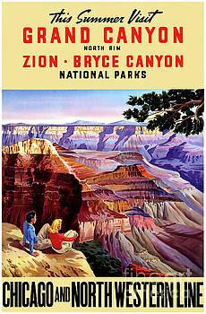USA National Parks Vintage Poster Restored by Carsten Reisinger
