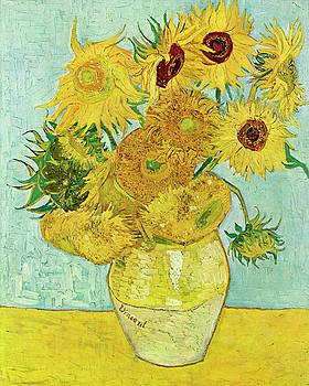 Van Gogh Vase with Twelve Sunflowers  by Vincent van Gogh
