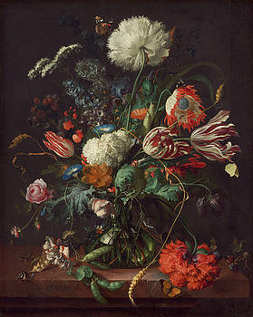 Vase of Flowers by Jan Davidsz de Heem