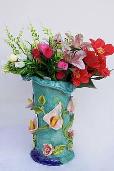 Vase, Rose Calla by Itzhak Richter