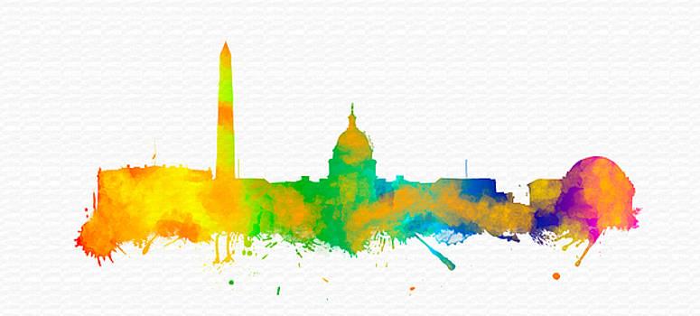 Vyacheslav Isaev - Washington City, colorful skylinee