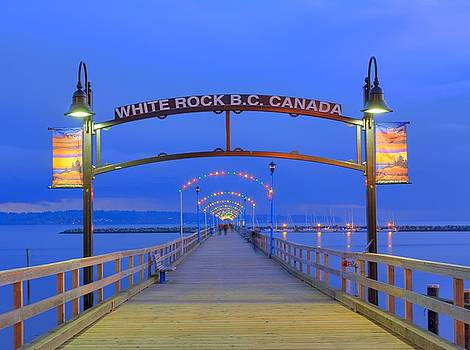 White Rock Pier by Larry Whiting