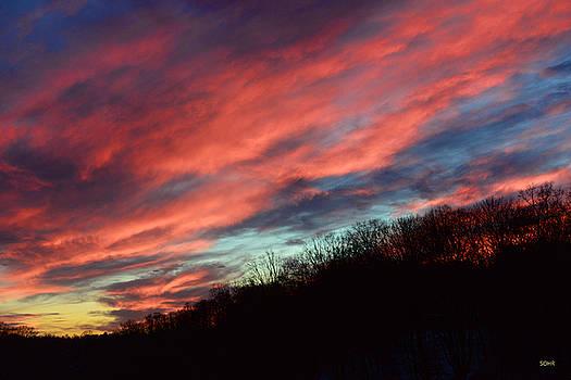 Dana Sohr - Winter Sunset over Patapsco River