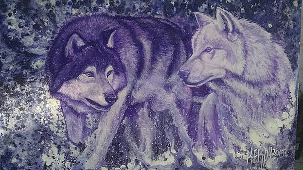 2 Wolves by Curtis Mitchell