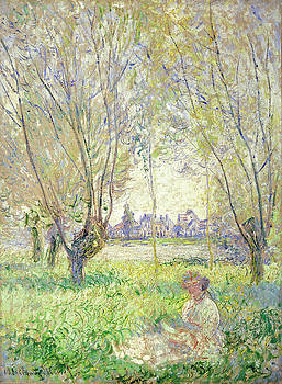 Claude Monet - Woman Seated under the Willows