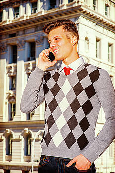 Alexander Image - Young American Man Calling Outside in New York