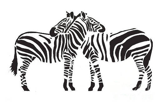 2 Zebras by Mary Atchison