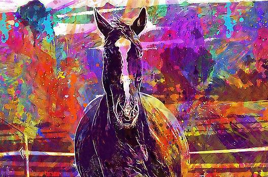 Horse Animal Ride Reiterhof Brown  by PixBreak Art