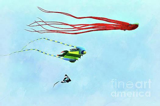 Kites flying during Kite festival by George Atsametakis