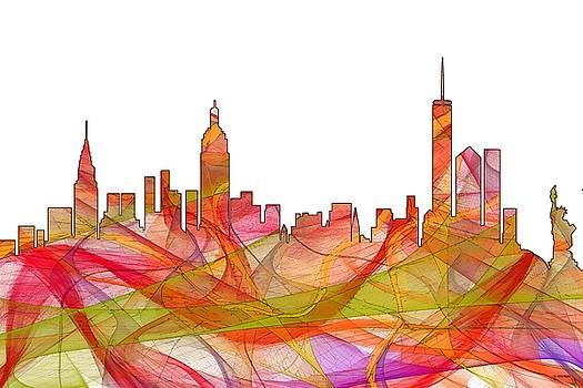 New York New York Skyline  by Marlene Watson