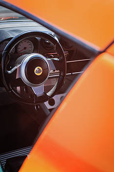2005 Lotus Elise Steering Wheel -0104c by Jill Reger