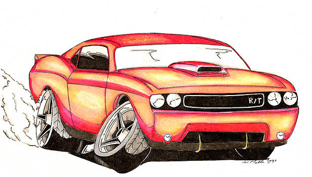 2009 Challenger   car-toon by Nathan  Miller