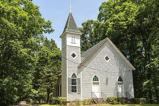 201406030-033 Front Of Wood Church No 33 3x2 by Alan Tonnesen