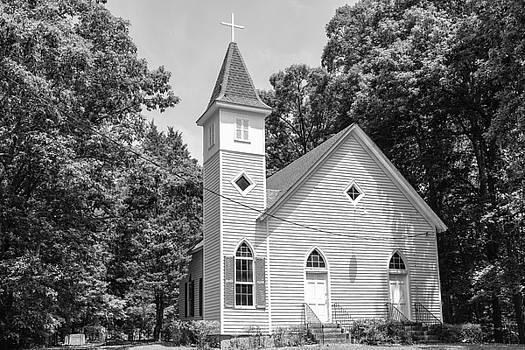 201406030-033K Front of wood church no 33 BW 2x3 by Alan Tonnesen