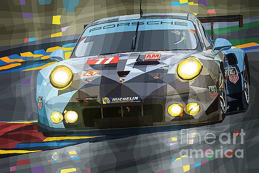 2015 Le Mans GTE-Am Porsche 911 RSR by Yuriy Shevchuk