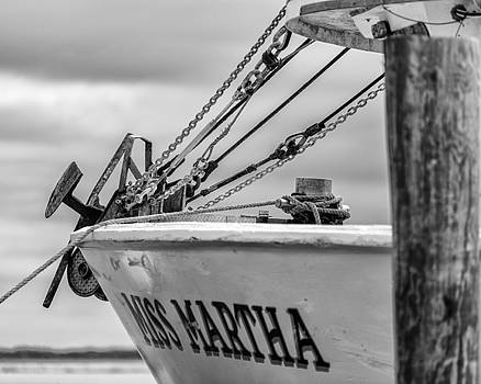 201503140-029XK Bow Anchor and Rigging 4x5 BW by Alan Tonnesen