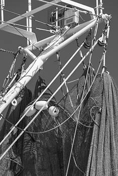 201503140-047K Fishing Nets and Boom BW 2x3 by Alan Tonnesen