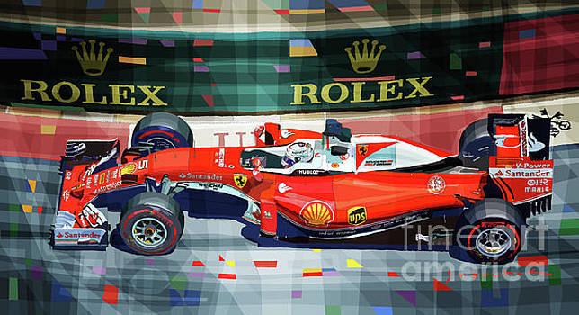 2016 Ferrari SF16-H Vettel Monaco GP  by Yuriy Shevchuk