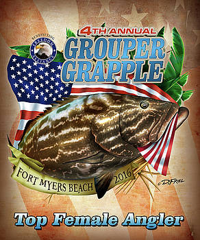 2016 Grouper Grapple Top Female Angler by Dennis Friel