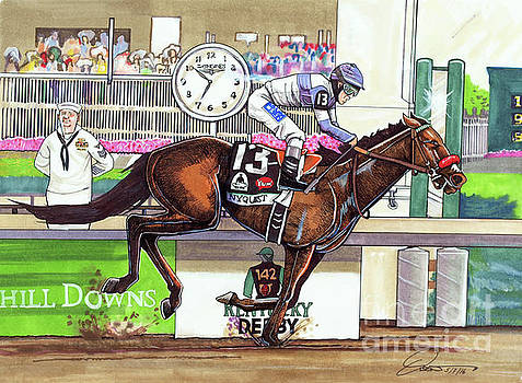 2016 Kentucky Derby winner Nyquist by Dave Olsen
