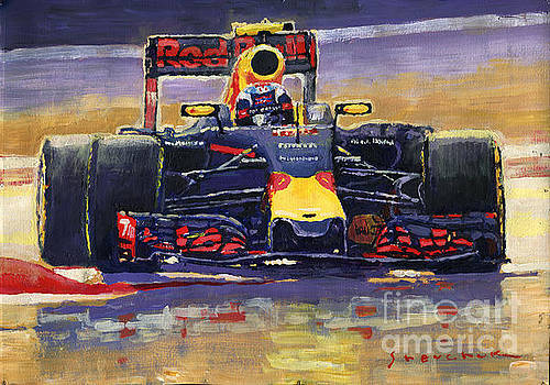 2016 Spain GP Max Verstappen Red Bull-Renault Winner by Yuriy Shevchuk
