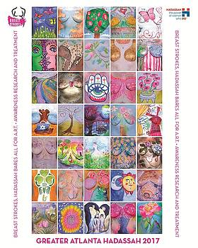 2017 Commemorative Breast Strokes Poster by Best Strokes -  formerly Breast Strokes - Hadassah Greater Atlanta