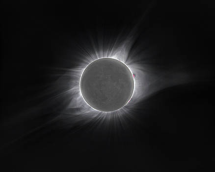 2017 Eclipse and Earthshine by Dennis Sprinkle
