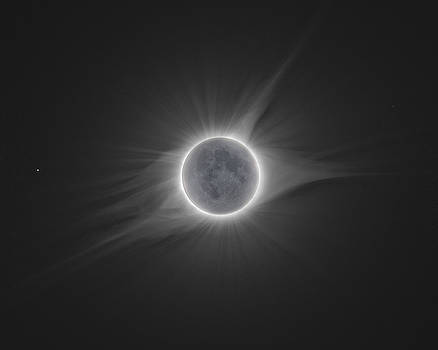 2017 Eclipse with Earth Shine by Dennis Sprinkle