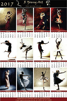 2017 high resolution R Young Art Dance calendar by Richard Young