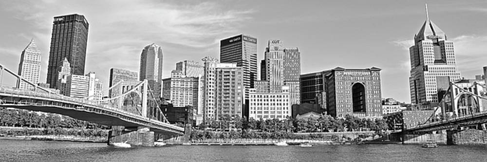 2017 Panoramic Black and White Pittsburgh View by Frozen in Time Fine Art Photography