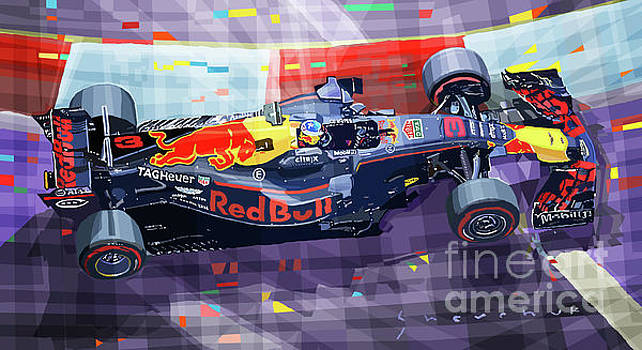 2017 Singapore GP Red Bull Racing Ricciardo by Yuriy Shevchuk