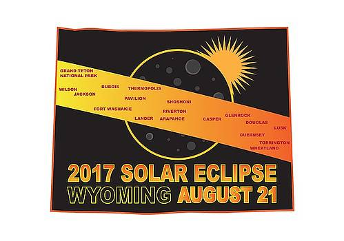 2017 Solar Eclipse Across Wyoming Cities Map Illustration by Jit Lim