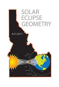 2017 Solar Eclipse Geometry Idaho State Map Illustration by Jit Lim