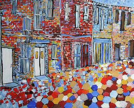 201718 Old town Alexandria Alley by Alyse Radenovic