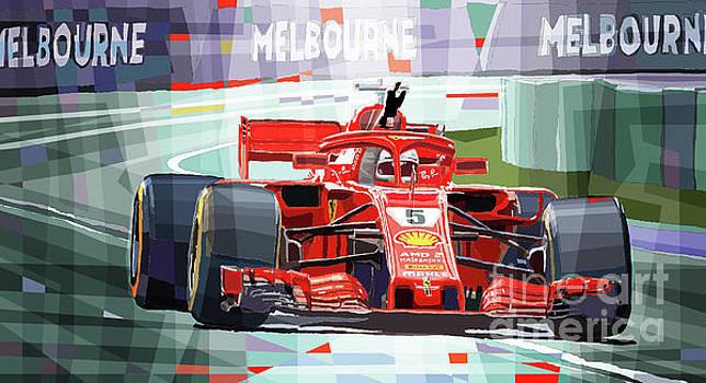 2018 Australian GP Ferrari SF71H Vettel winner  by Yuriy Shevchuk