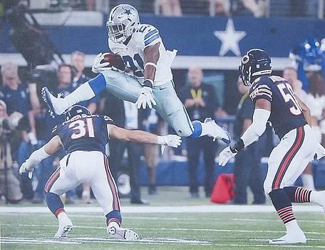 #21 Ezekiel Elliott Running Back Dallas Cowboys by Donna Wilson