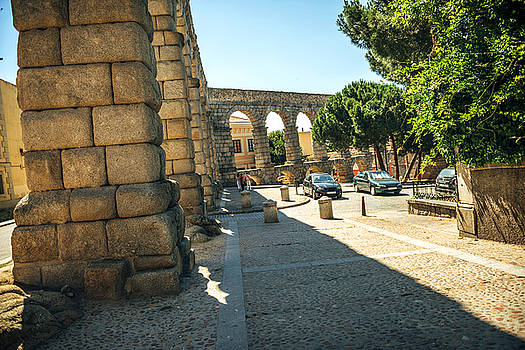Eduardo Huelin - The famous ancient aqueduct in Segovia Spain
