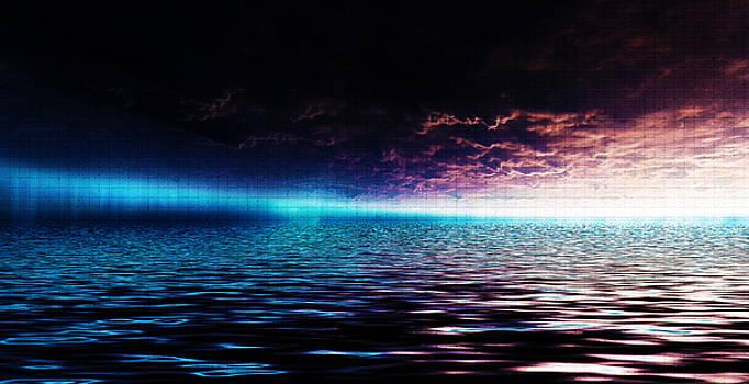 Heavens Waves - Sri Yantra by Sir Josef - Social Critic -  Maha Art