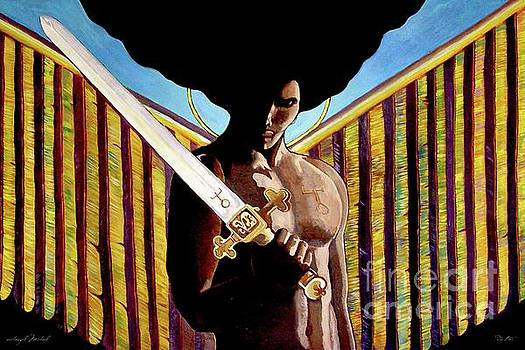 24x36 Archangel Michael by Dia T