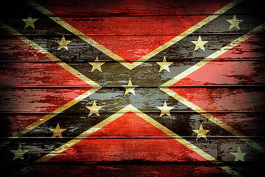 Confederate flag 2 by Les Cunliffe