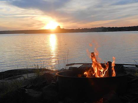 Bar Harbor Maine sunset by Darlene Custer