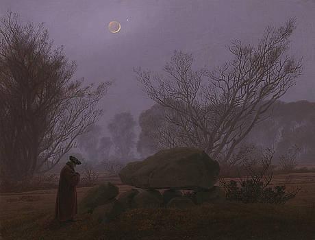 Caspar David Friedrich - A Walk at Dusk
