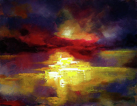 Abstract landscape  by Zlatko Music