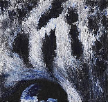 Abstract snow leopard by Rashmi Rao