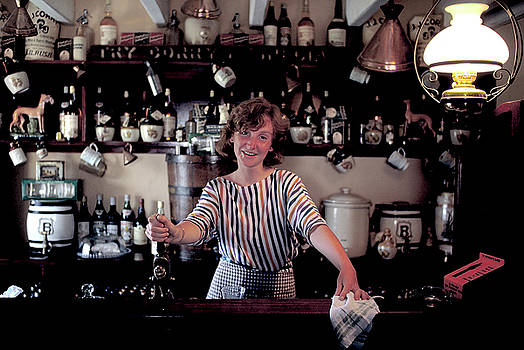 Bar Maid at Durty Nellys in Ireland by Carl Purcell