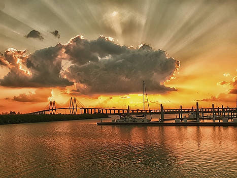 Bay sunset by Robert Brown