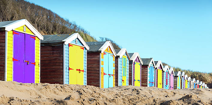 Beach Huts by Svetlana Sewell