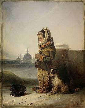 Begging Orphan by Johann Mathias