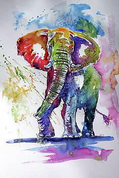 Big colorful elephant by Kovacs Anna Brigitta
