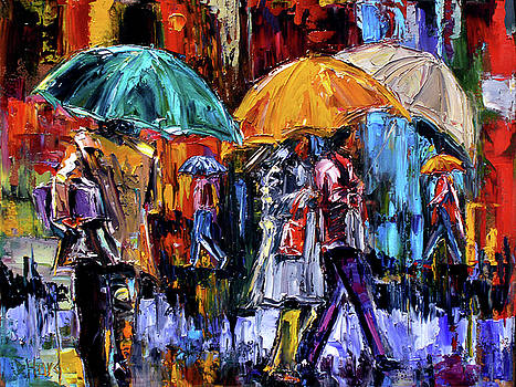 3 Big Umbrells by Debra Hurd